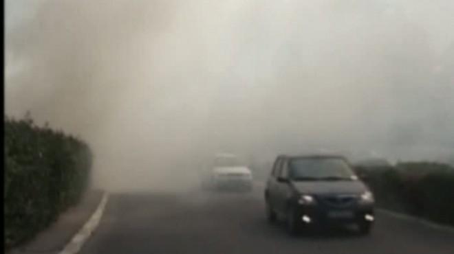 ALERTA/ INCENDIU de vegetatie, intre Loloiasca si Albesti. Traficul rutier se desfasoara ingreunat din cauza fumului
