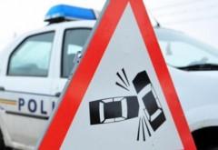Accident pe DN1, la Potigrafu. Implicate o duba si un autoturism