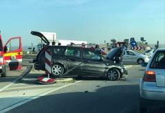 Accident pe Centura de Est. O persoana a fost ranita grav dupa impactul dintre 2 masini