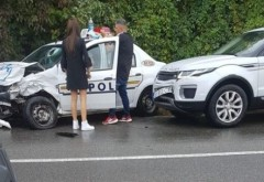 Accident pe DN1, la Posada. O masina de Politie, implicata