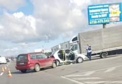 """Accident grav pe DN1, la intersectia cu Baicoi. Un sofer de 81 de ani a """"taiat"""" drumul national fara sa se asigure"""