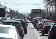 Se circula bara la bara pe DN1, spre Valea Prahovei