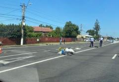 FOTO exclusiv/ Cum s-a produs accidentul de la Romanesti, in urma caruia un biciclist de 45 de ani si-a pierdut viata