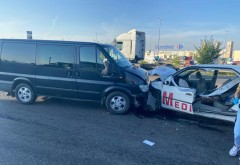 Accident Mediurg: O pacienta aflata in ambulanta a murit, iar un altul e in coma, ventilat mecanic