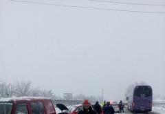 Accident pe DN1, in apropiere de Banesti. 4 masini implicate, trafic restrictionat