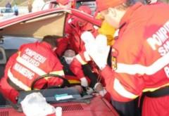 Accident la Valea Calugareasca, pe DN1B. O persoană este asistată medical