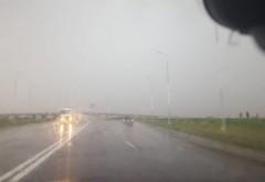 Avertizare infotrafic. Risc de acvaplanare pe A3 Bucuresti-Ploiesti din cauza ploii torentiale