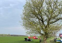 Accident mortal in Prahova, la Draganesti, pe DN1D. Un tanar de 28 de ani a murit dupa ce a intrat cu masina in copac
