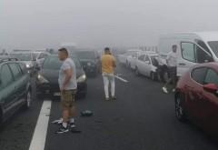 Carambol cu peste 40 de mașini pe Autostrada Soarelui. Circulația spre mare este blocată. A fost activat planul roșu