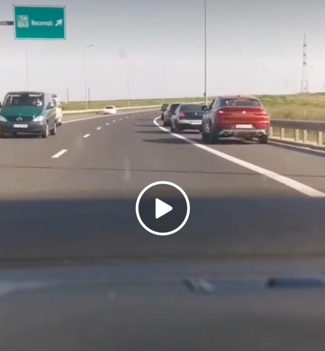 Asa arata niste cretini. Soferi filmati pe contrasens pe Autostrada Soarelui, ca sa fenteze aglomeratia