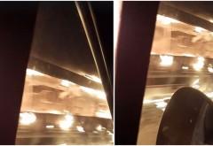 Accident îngrozitor la intrarea în București: un microbuz plin cu pasageri a luat foc
