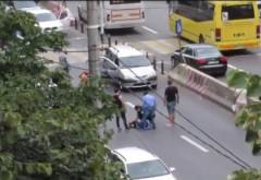 Un baiat a fost lovit de masina, pe trecere, in Bariera Bucuresti. La volan se afla un tanar de 18 ani, sofer incepator
