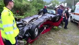 Zece accidente, în ultimele luni pe DN1, în zona Posada, din cauza lipsei parapeţilor