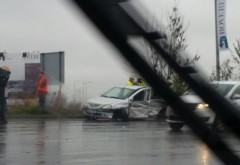 Vremea rea face VICTIME! Accident rutier pe DN1, în Otopeni FOTO