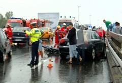 Accident cu CINCI MAŞINI pe DN1, în Băneasa. Un tânăr a MURIT, alte şase persoane SUNT RĂNITE
