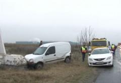 Trei mașini s-au ciocnit pe DN1, în Prahova