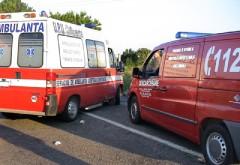 O ambulanță s-a RĂSTURNAT la Apostolache