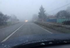 Atenție, șoferi! CEAȚĂ DENSĂ în Prahova
