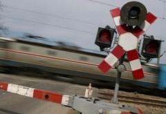 Accident feroviar în Vărbilău. Un autoturism, lovit de tren