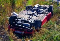 Accident pe DN1 la Posada. Un șofer a căzut 30 de metri în gol