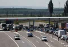 Cozi la staţia de taxare pentru trecerea pe podul de la Feteşti. Anunţul CNADNR
