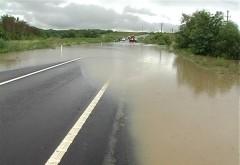 DN 1, INUNDAT după furtuna de pe Valea Prahovei