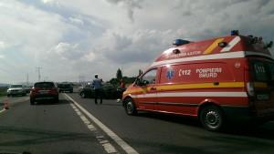Accident VIOLENT pe DN1 în dreptul localității Băicoi FOTO