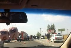 Accident GRAV pe DN1, la Paulesti: Trei persoane INCARCERATE. Elicopterul SMURD a sosit la fata locului