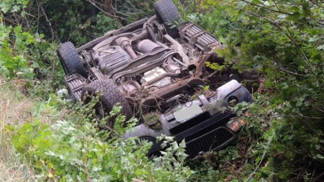 O femeie s-a răsturnat cu maşina la Bărcăneşti