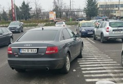 """Parcare de """"căpşunar"""", la Kaufland Nord. Audi PH-18-WAA, esti boul zilei"""
