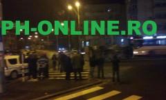 Accident in Piata Anton: O dubita s-a rasturnat pe mijlocul strazii