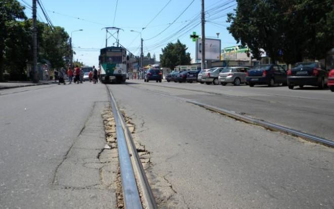 Restricţii de circulatie pe Soseaua Vestului din cauza lucrărilor la liniile de tramvai