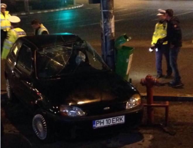 Accident rutier în centrul Ploieştiului, lângă Catedrală FOTO