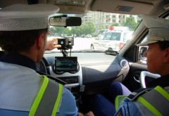 RECORD de viteză surprins pe radar. Poliția a depistat un șofer care conducea cu 246 km/h