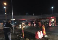 ACCIDENT cu 3 masini in dreptul giratoriului suspendat de la Paulesti