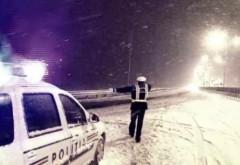 Poliția Rutieră Prahova a amendat CNADNR pentru că nu a deszăpezit DN1A