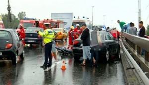 Accident la ieșirea din Ploiești, zona Coca Cola