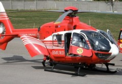 Un microbuz cu copii s-a răsturnat pe A1. Un elicopter SMURD a fost solicitat
