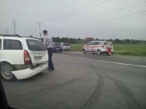 Accident la ieșire din Ploiești spre Parcul Industrial