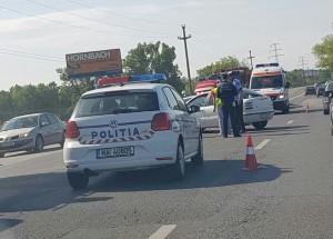 IMAGINI cu accidentul de pe DN1. Un motociclist a fost implicat FOTO