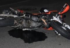 Accident în satul Banului. Un motociclist a fost rănit grav