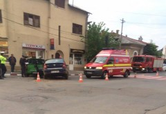 Accident la intersecția străzilor Maramureș cu Rudului