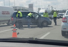 Accident grav la Bucov. Doua masini implicate