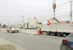 Trafic restricţionat pe DN1, la ieşire din Capitală, pentru montarea parapeţilor de beton