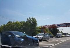 Accident pe DN1, la intersectia cu Snagov