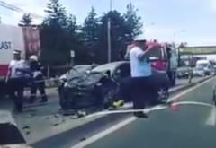 Accident GRAV pe DN1. CINCI maşini au fost implicate. Şase persoane, rănite