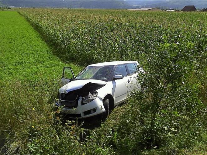 Accident pe DN 1, la Cornu