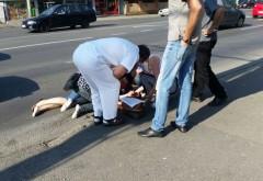 Accident pe strada Grigore Cantacuzino, în apropierea unei treceri de pietoni