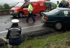 Accident pe DN1, la Sinaia. Un șofer a pătruns pe contrasens