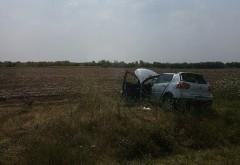 Accident in Ciorani, pe DN 1D: A ajuns in camp dupa ce i-a explodat o roata